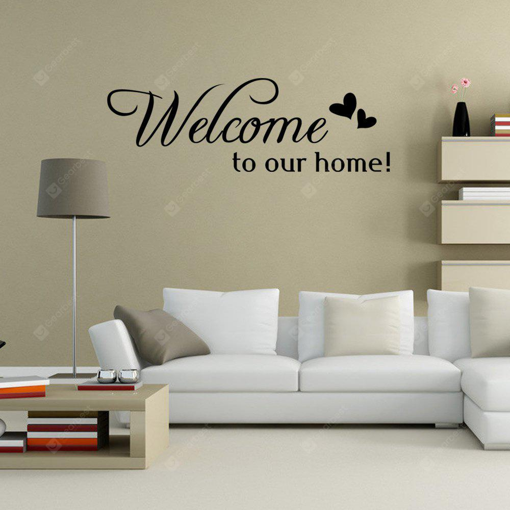 DSU Welcom to Our Home DIY Home Decoration Wall Decal