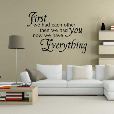 DSU Wall Sticker We Had Each Other Home Decoration Decal Living Ro
