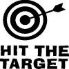 Hit the Target Quote Toilet Sticker Shooting Washroom Decals - BLACK