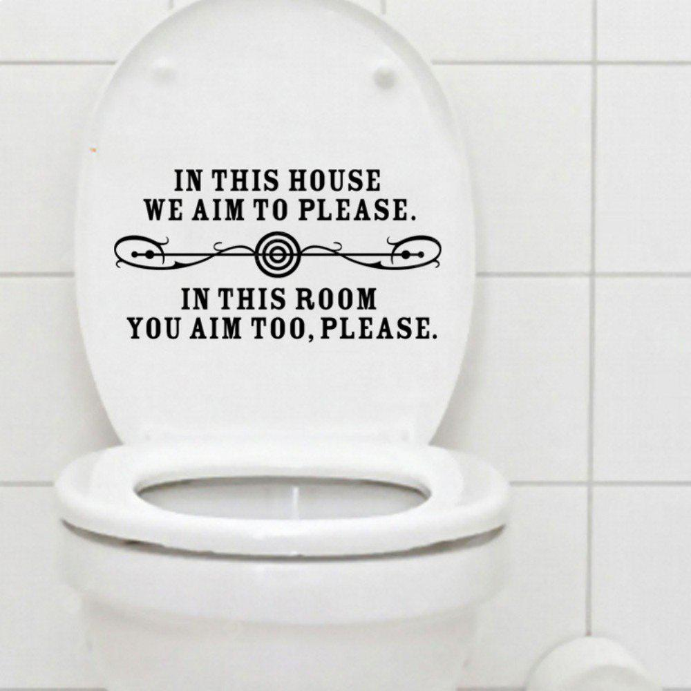 In This House Quote Toilet Sticker Washroom Decals Home Decor