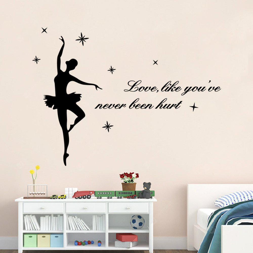 Aw9262 English Wall Stickers Love, Like You'Ve Never Been Hurt Dance Decorative Carved Wall Sticker