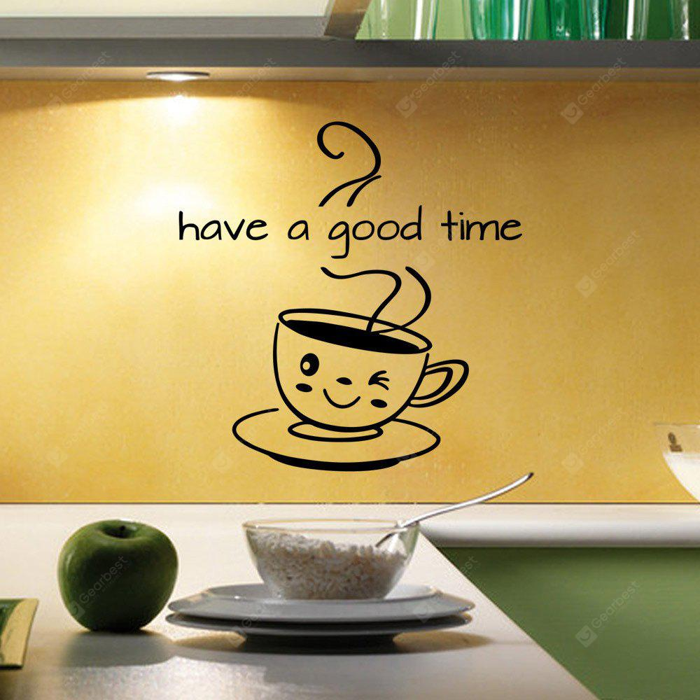 AW9287have A Good Time Kitchen Restaurant Decorating Removable Carved Wall Stickers