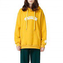 Toyouth Casual Letter Printing Batwing Sleeve Fashion Loose Pullover Hoodies