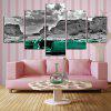 Modern Frameless HD Canvas Prints for Home Wall Decal 5pcs - COLORFUL