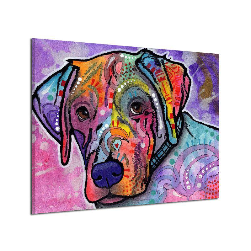 Abstract Frameless Canvas Print of Dog Home Wall Decoration