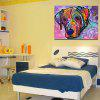 Abstract Frameless Canvas Print of Dog Home Wall Decoration - COLORFUL