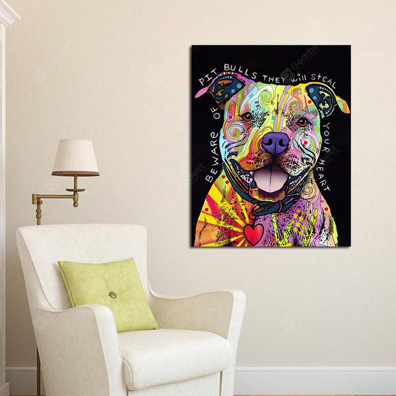 Creative Canvas Print of Dog Frameless Home Wall Decoration