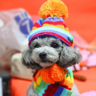 Lovoyager LVC1130 Pet Winter Cuddly Dog Three-Piece Scarf Hat