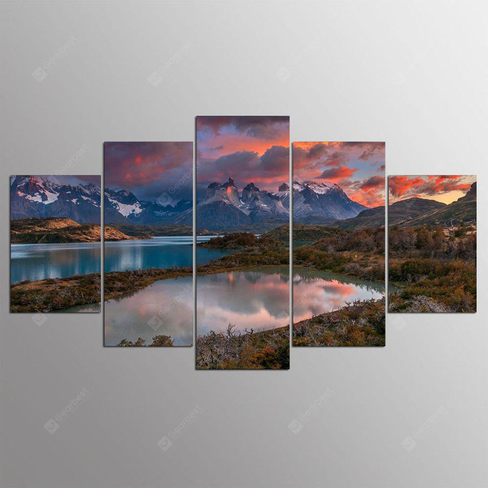 YSDAFEN 5 Panel Modern Breathtaking Scenery Paintings for Living Room