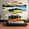 YSDAFEN 5 Panel Modern Beach Cloud Hd Canvas Print Art for Living Room - COLORMIX