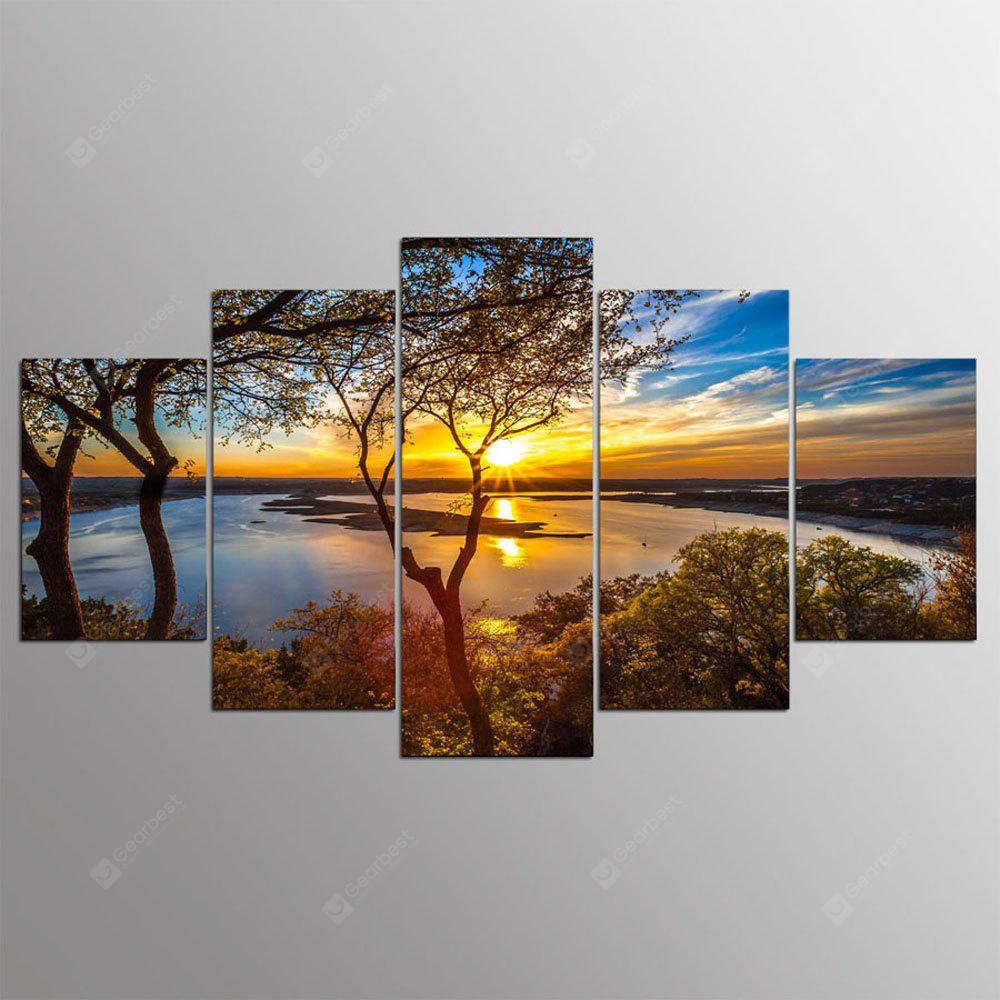 YSDAFEN 5 Panel Wall Art Canvas Painting Pictures Home Decor Living Room