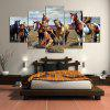 YSDAFEN 5 Panel American Native Tribes Indian Canvas Painting Wall Art Picture Home Decoration Living Room - COLORMIX