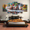 YSDAFEN 5 Panel Modern The Horses Hd Canvas Paintings for Living Room Wall Picture - COLORMIX