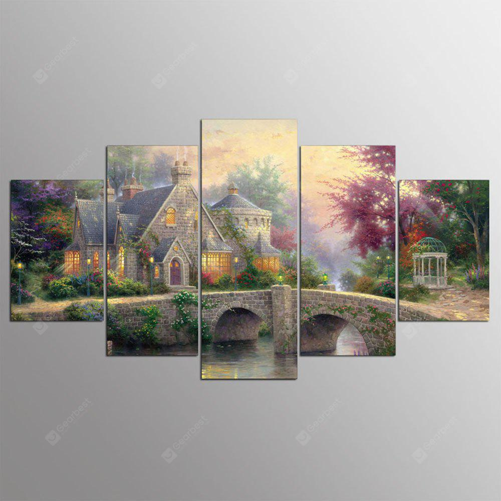 YSDAFEN HD Printed 5 Piece House Wall Pictures for Living Room Modern Posters