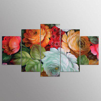 YSDAFEN 5 Piece HD Printed Flowers Wall Pictures for Living Room
