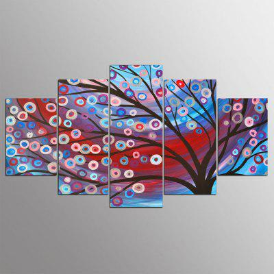 YSDAFEN 5 Piece HD Printed Tree Colorful Wall Pictures for Living Room