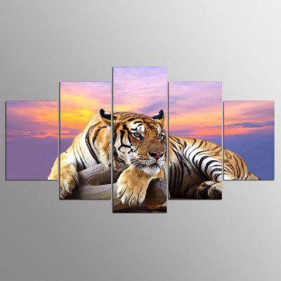 YSDAFEN 5 Piece HD Printed Tiger Wall Pictures for Living Room