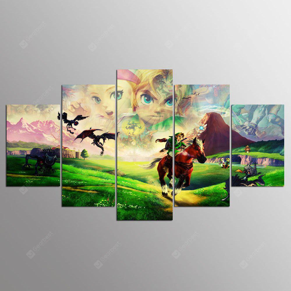 YSDAFEN 5 Pieces Modern Home Wall Decor Canvas Picture