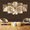 YSDAFEN 5 Pieces Canvas Painting World Map Picture Home Decor for Living Room - COLORMIX