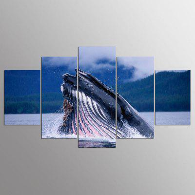 YSDAFEN 5 Panel Modern Hd Biggest Animal in The World Print Canvas Art for Living Room