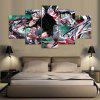 YSDAFEN 5 Panels Wall Art Anime 5 Pieces Canvas Paintings - COLORMIX