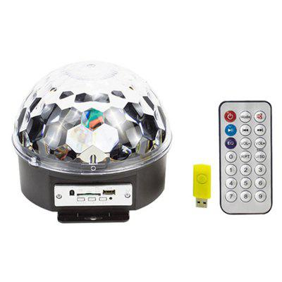 LED Crystal Magic Ball with Remote Control Disco DJ Light