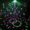 LED Crystal Magic Ball with Remote Control Disco DJ Light - BLACK