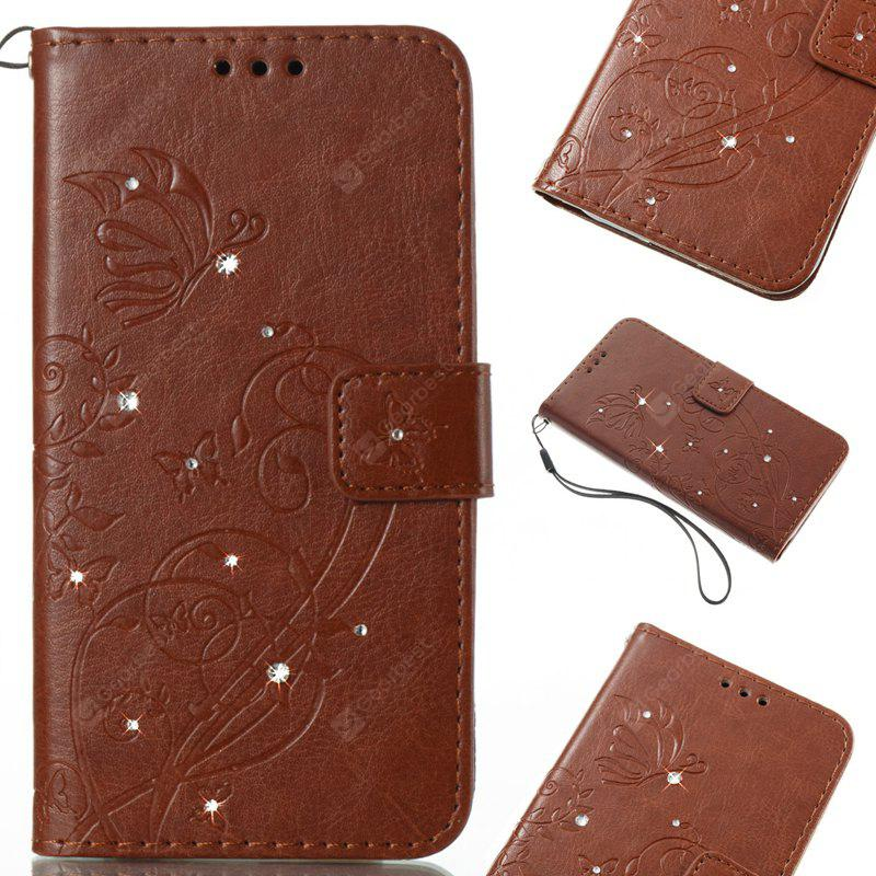 Single Face Butterfly Embossing Leather Case with Water Dirll for Huawei P8 Lite 2017