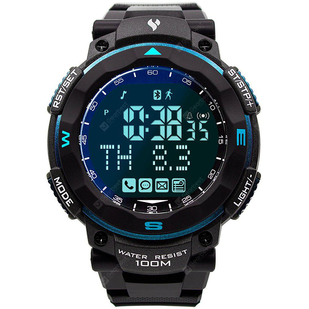 Youngs 100M Waterproof Sports Smart Watch Pedometer Watch for Skiing Running Swimming Surfing Diving Blue