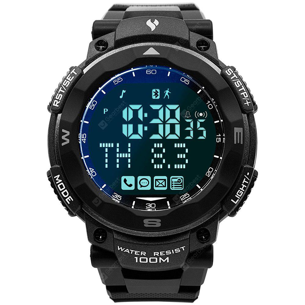 Youngs 100M Waterproof Sports Smart Watch Pedometer Watch for Skiing Running Swimming Surfing Diving Gray