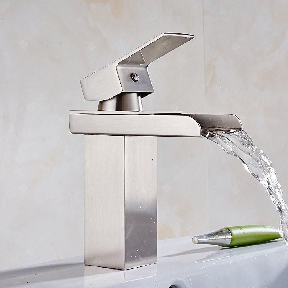 Contemporary Chrome Single Handle Widespread Waterfall Bathroom Sink Faucet CHROME