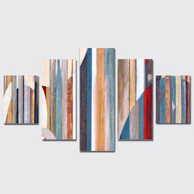 QiaoJiaHuaYuan Frameless Canvas 5Pcs of Painting Abstract Vertical Version of irregular Geometric Decorative