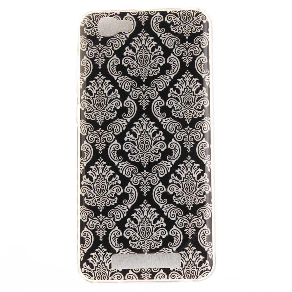 Totem Flowers Soft Clear IMD TPU Phone Casing Mobile Smartphone Cover Shell Case for ZTE Blade A610