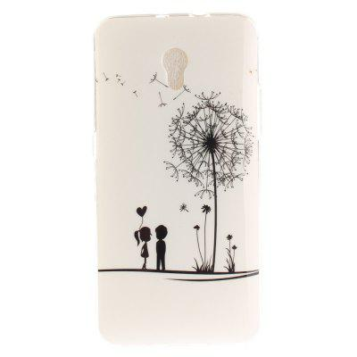 A Lover and A Dandelion Soft Clear IMD TPU Phone Casing Mobile Smartphone Cover Shell Case for ZTE Blade V7