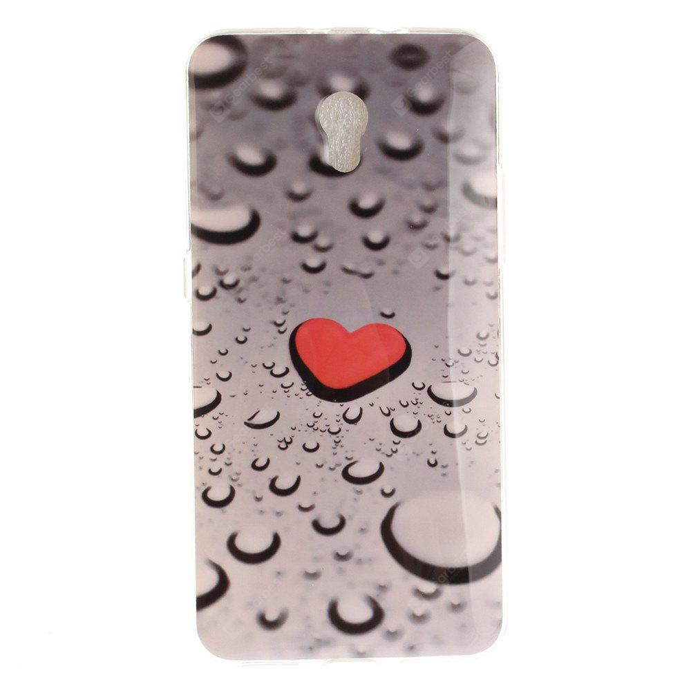 Water Droplets Love Soft Clear IMD TPU Phone Casing Mobile Smartphone Cover Shell Case for ZTE Blade V7