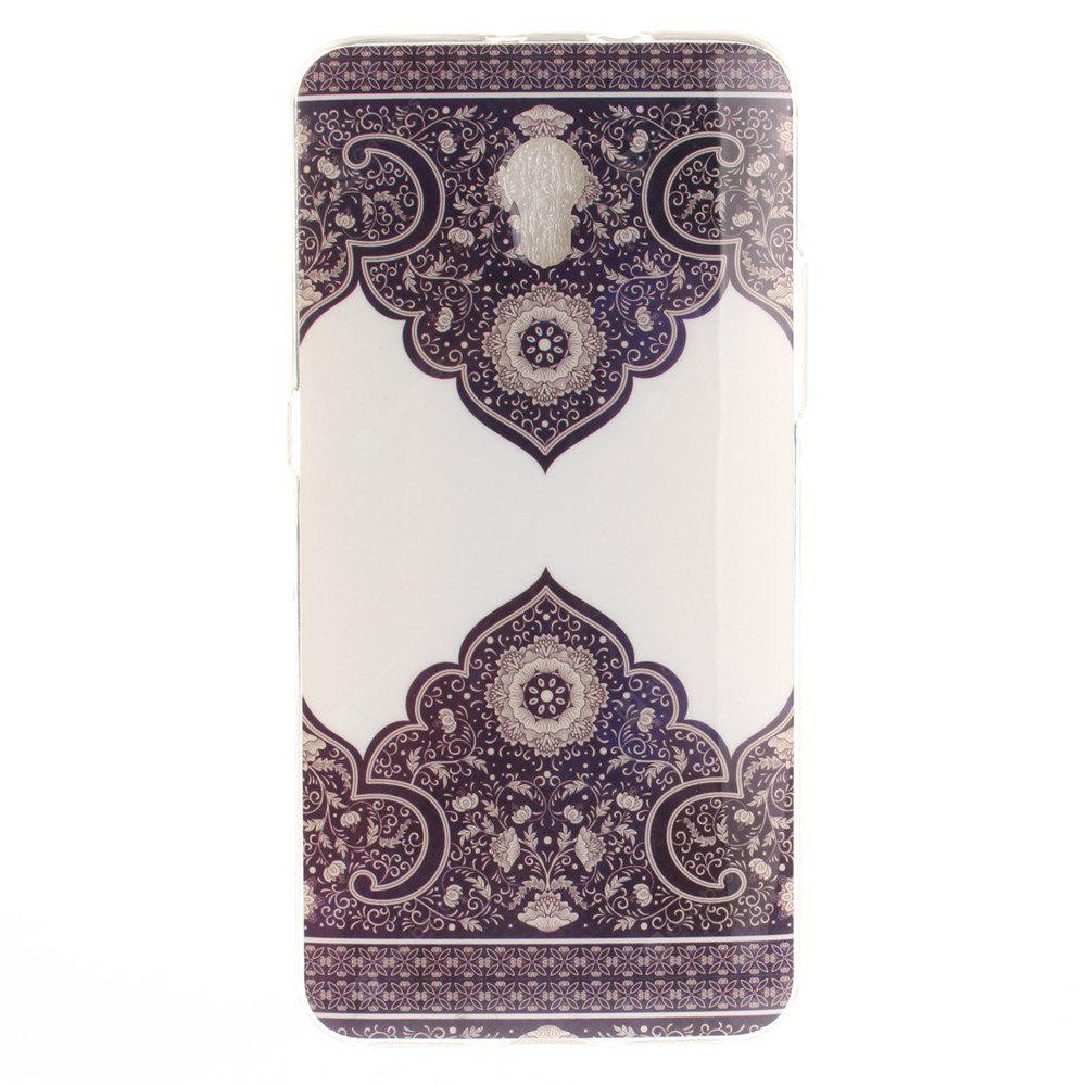 Diagonal Totem Soft Clear IMD TPU Phone Casing Mobile Smartphone Cover Shell Case for ZTE Blade V7