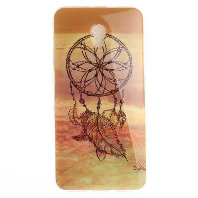 Windbell Pattern Soft Clear IMD TPU Phone Casing Mobile Smartphone Cover Shell Case for ZTE Blade V7