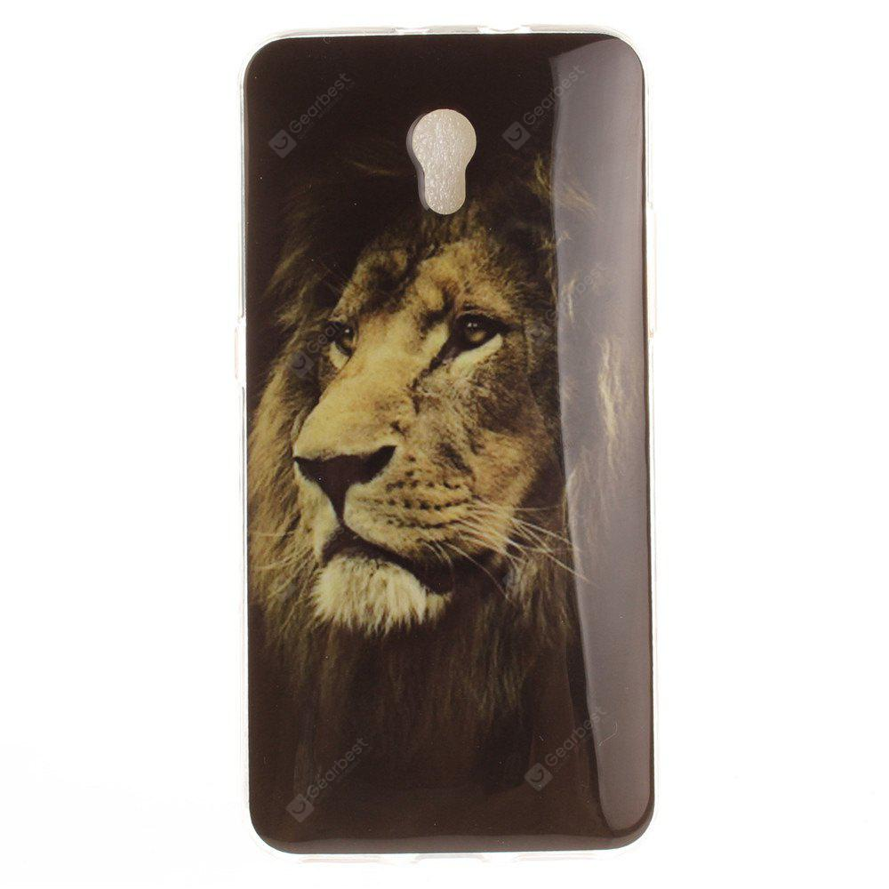Lion Soft Clear IMD TPU Phone Casing Mobile Smartphone Cover Shell Case for ZTE Blade V7
