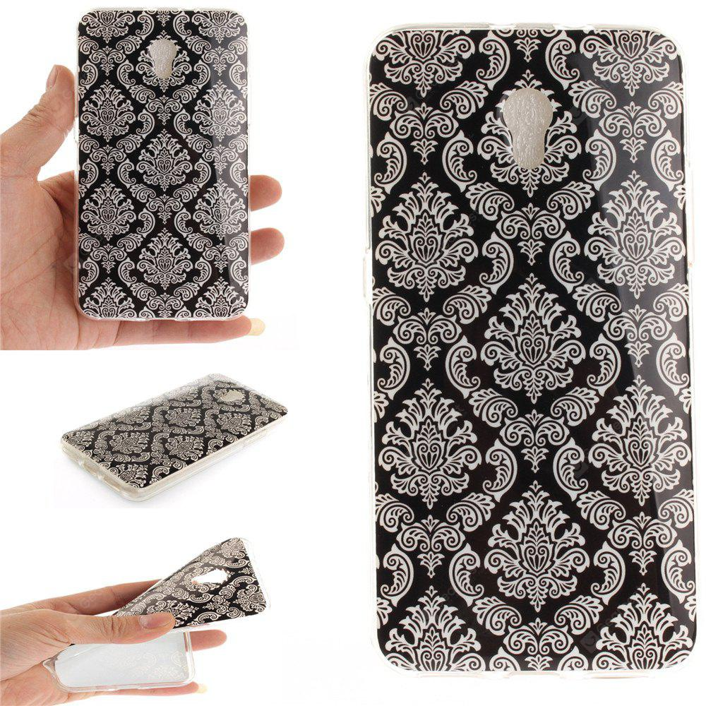 Totem Flowers Soft Clear IMD TPU Phone Casing Mobile Smartphone Cover Shell Case for ZTE Blade V7