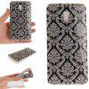 Totem Flowers Soft Clear IMD TPU Phone Casing Mobile Smartphone Cover Shell Case for ZTE Blade V7 - GRAY
