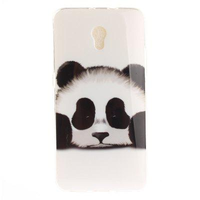 Panda Soft Clear IMD TPU Phone Casing Mobile Smartphone Cover Shell Case for ZTE Blade V7
