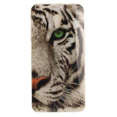 Tiger Pattern Soft Clear IMD TPU Phone Casing Mobile Smartphone Cover Shell Case for ZTE Blade V7