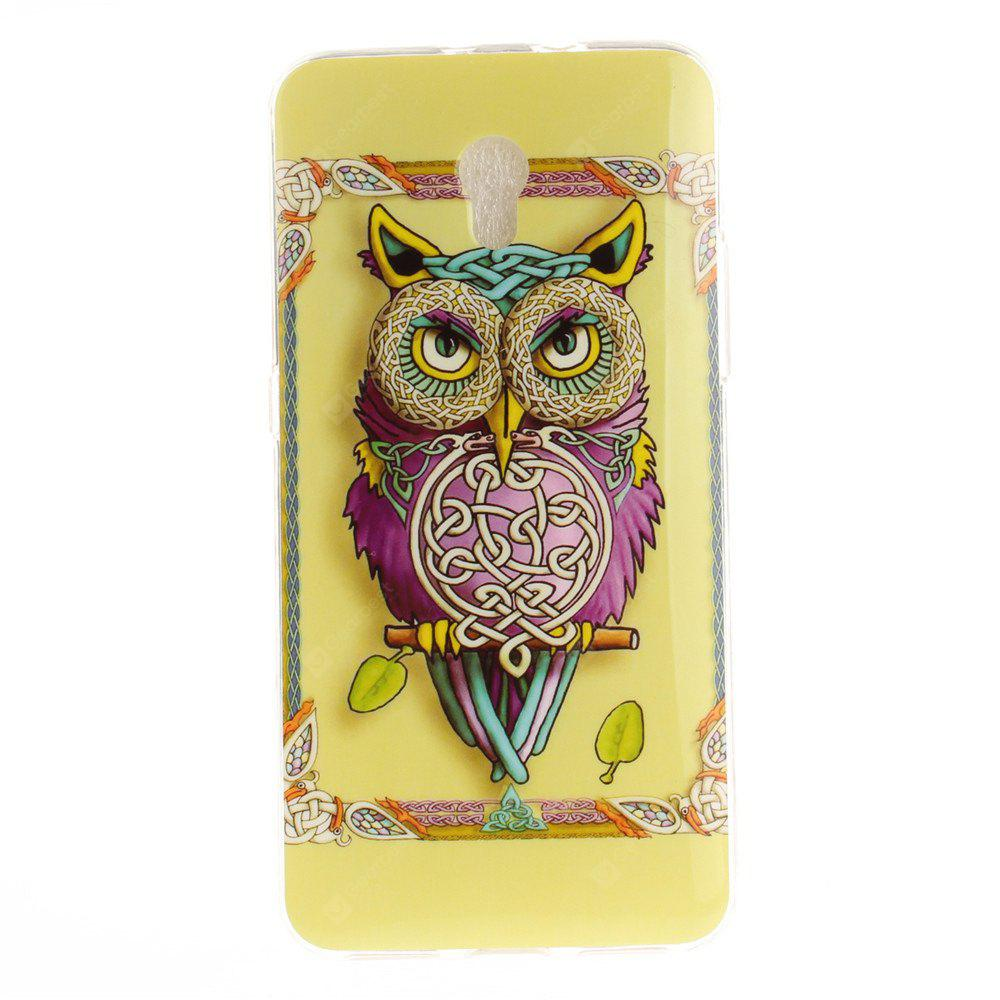 Owl Pattern Soft Clear IMD TPU Phone Casing Mobile Smartphone Cover Shell Case for ZTE Blade V7