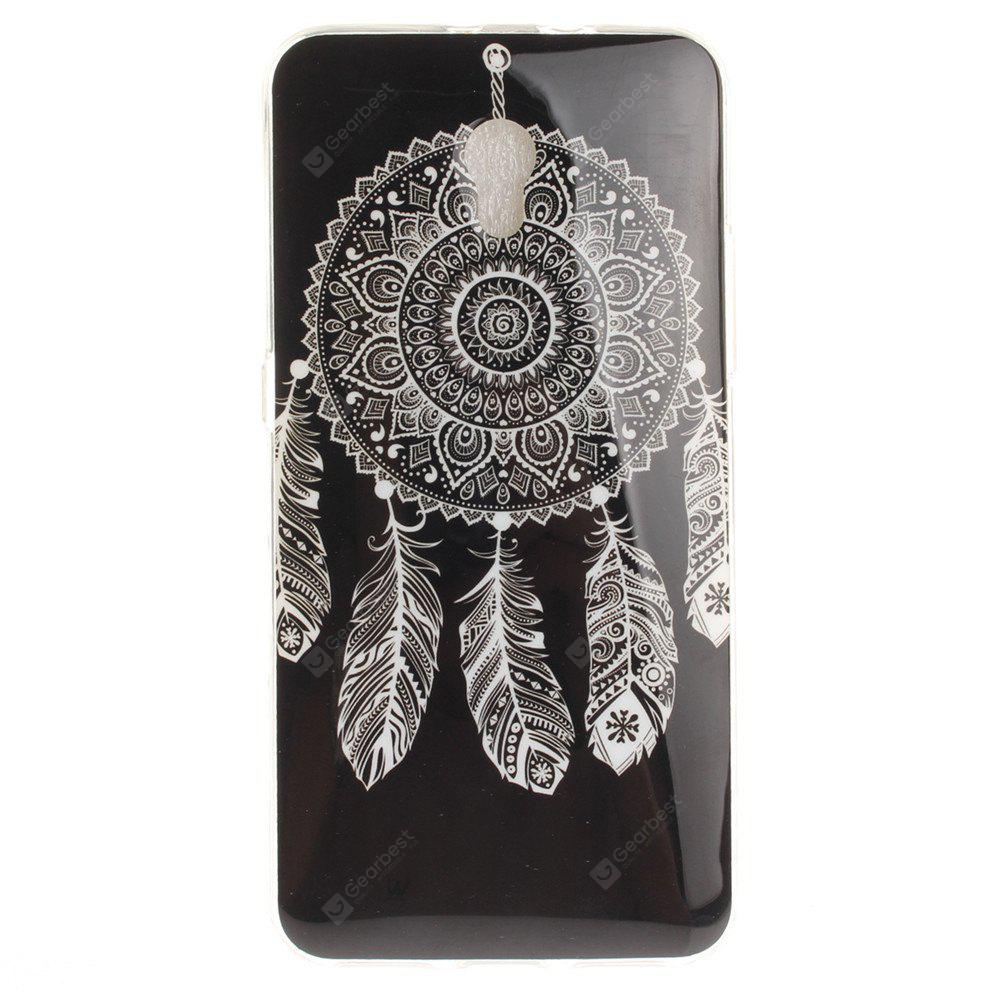 Black Wind Chimes Soft Clear IMD TPU Phone Casing Mobile Smartphone Cover Shell Case for ZTE Blade V7