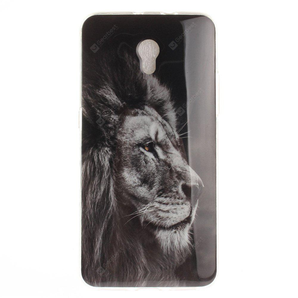 Black Lion Soft Clear IMD TPU Phone Casing Mobile Smartphone Cover Shell Case for ZTE Blade V7