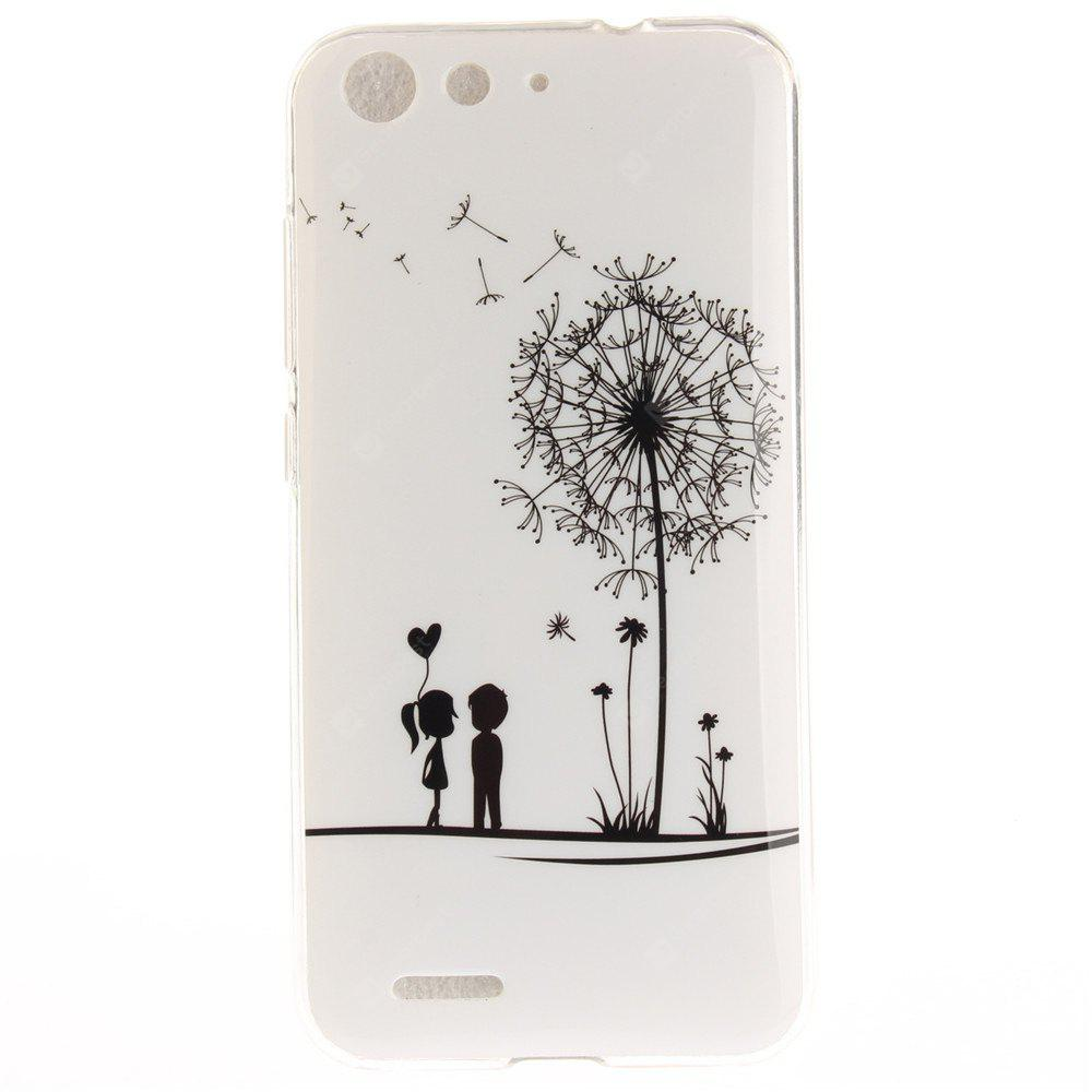 Dandelion Soft Clear IMD TPU Phone Casing Mobile Smartphone Cover Shell Case for ZTE Blade X7 Z7 D6 V6