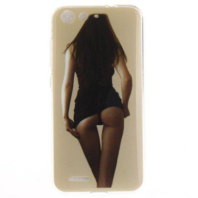 Sexy Girl Soft Clear IMD TPU Phone Casing Mobile Smartphone Cover Shell Case for ZTE Blade X7 Z7 D6 V6