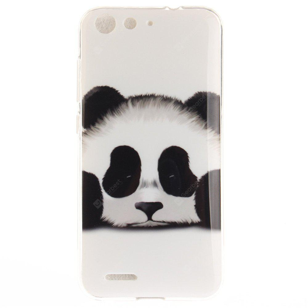Panda Soft Clear IMD TPU Phone Casing Mobile Smartphone Cover Shell Case for ZTE Blade X7 Z7 D6 V6