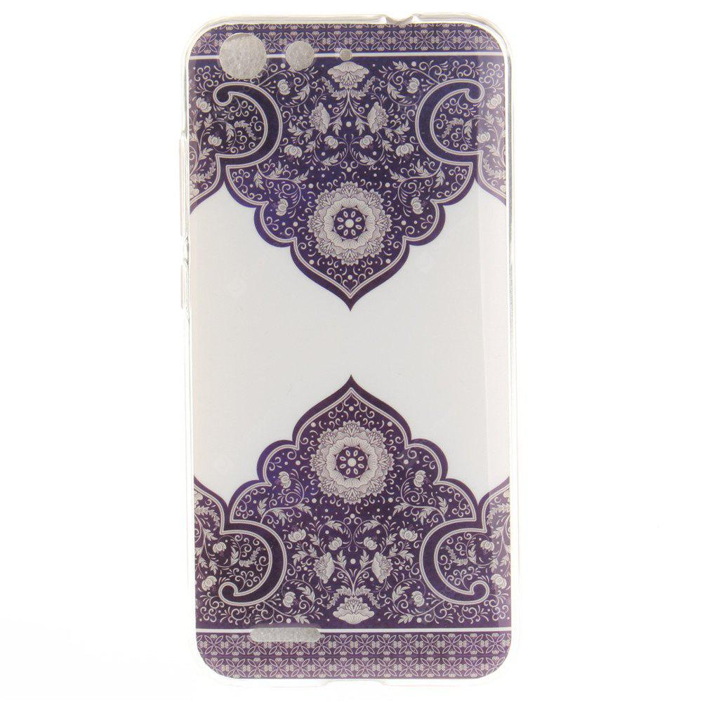 Diagonal Totem Soft Clear IMD TPU Phone Casing Mobile Smartphone Cover Shell Case for ZTE Blade X7 Z7 D6 V6