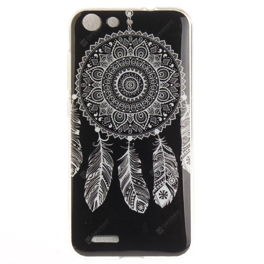 Black Wind Chimes Soft Clear IMD TPU Phone Casing Mobile Smartphone Cover Shell Case for ZTE Blade X7 Z7 D6 V6